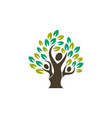 family tree parenting logo icon symbol design vector image vector image