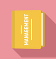 folder management icon flat style vector image vector image