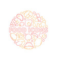 food icon background colored circle shape kitchen vector image vector image