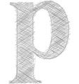 Freehand Typography Letter p vector image vector image