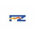 FZ initial company logo vector image vector image