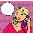 Girl talking on the phone in vector image vector image