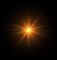 golden rays of the sun vector image