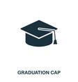graduation cap icon line style icon design ui vector image