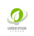 green leaf arrow bulb logo concept design symbol vector image