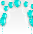 Holiday background with blue balloons vector image vector image
