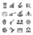 honey icon beekeeping symbols and breeding of vector image vector image