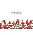 horizontal backdrop decorated with lingonberries vector image vector image