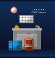 hotel service building vector image vector image