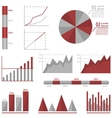 Infographic graph set vector image vector image