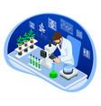Isometric concept laboratory exploring new