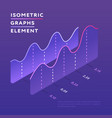 isometric design graph element vector image vector image