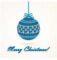 knitted christmas ball vector image vector image