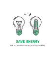 led energy saving lamp vector image vector image