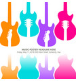live music poster template for concert vector image vector image