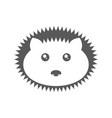 logo hedgehog on white background vector image