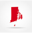 map us state rhode island vector image vector image