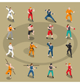 Martial Arts Isometric People Set vector image vector image