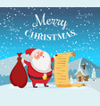 merry christmas background with funny vector image vector image