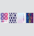 minimal covers design set geometric patterns vector image