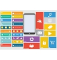 Modern colorful user interface vector image vector image