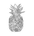 pineapple coloring page vector image