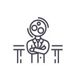 recruitmentanalytics manager line icon vector image