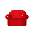 red soft armchair upholstered furniture isolated vector image