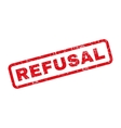 Refusal Rubber Stamp vector image vector image