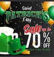 saint patricks day celebration and sale promotion vector image vector image