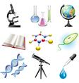 science set vector image vector image