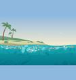sea garbage in polluted water dirty ocean beach vector image