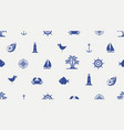 seamless background with cute sea objects vector image vector image