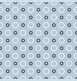 seamless pattern with black and white dots vector image
