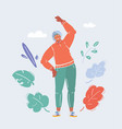 senior woman doing exercise vector image vector image