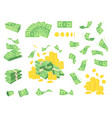 set a various kind money packing in bundles of vector image vector image