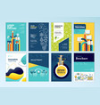 set of brochure design templates of education vector image vector image
