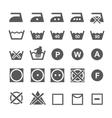 set of washing symbols laundry icons isolated vector image
