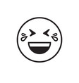 smiling cartoon face laugh positive people emotion vector image vector image