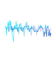 sound waves isolated on white background gradient vector image vector image