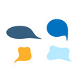 speech bubble icon set chat symbol flat isolated vector image
