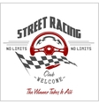 Street Racing club badge and design elements vector image