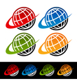 Swoosh Earth Logo Icons vector image vector image