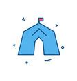 tent icon design vector image vector image