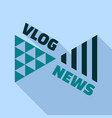 vlog news logo flat style vector image vector image