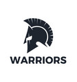 warriors logo design vector image