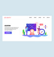 web site design template navigation vector image