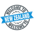 welcome to New Zealand blue round vintage stamp vector image vector image