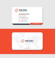white and red business card with map of the world vector image vector image