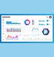 white infographic dashboard vector image vector image